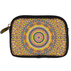 Wood Festive Rainbow Mandala Digital Camera Cases by pepitasart