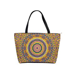 Wood Festive Rainbow Mandala Shoulder Handbags by pepitasart