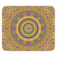 Wood Festive Rainbow Mandala Double Sided Flano Blanket (small)  by pepitasart