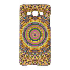 Wood Festive Rainbow Mandala Samsung Galaxy A5 Hardshell Case  by pepitasart