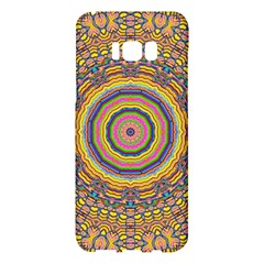 Wood Festive Rainbow Mandala Samsung Galaxy S8 Plus Hardshell Case  by pepitasart