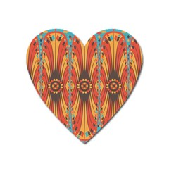 Geometric Extravaganza Pattern Heart Magnet by linceazul