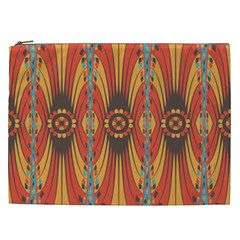 Geometric Extravaganza Pattern Cosmetic Bag (xxl)  by linceazul