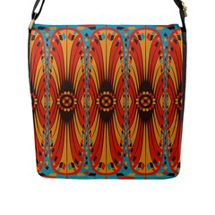 Geometric Extravaganza Pattern Flap Messenger Bag (l)  by linceazul