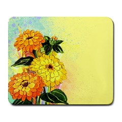 Background Flowers Yellow Bright Large Mousepads