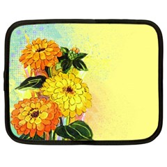 Background Flowers Yellow Bright Netbook Case (xl)