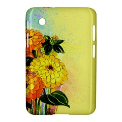 Background Flowers Yellow Bright Samsung Galaxy Tab 2 (7 ) P3100 Hardshell Case