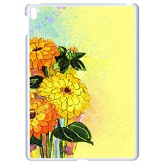Background Flowers Yellow Bright Apple Ipad Pro 9 7   White Seamless Case