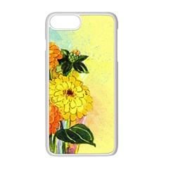 Background Flowers Yellow Bright Apple Iphone 8 Plus Seamless Case (white)
