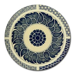 Background Vintage Japanese Round Mousepads