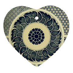 Background Vintage Japanese Ornament (heart)