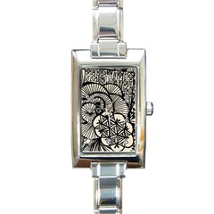 Background Abstract Beige Black Rectangle Italian Charm Watch by Nexatart