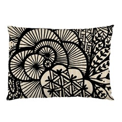 Background Abstract Beige Black Pillow Case