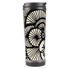 Background Abstract Beige Black Travel Tumbler by Nexatart
