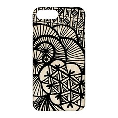 Background Abstract Beige Black Apple Iphone 7 Plus Hardshell Case by Nexatart