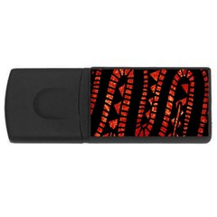 Background Abstract Red Black Rectangular Usb Flash Drive