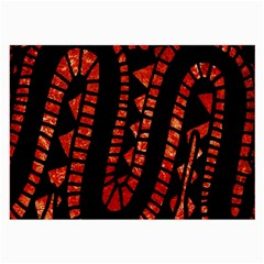 Background Abstract Red Black Large Glasses Cloth