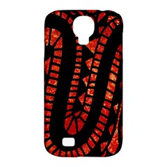 Background Abstract Red Black Samsung Galaxy S4 Classic Hardshell Case (pc+silicone)