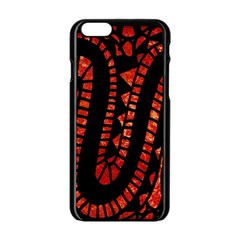 Background Abstract Red Black Apple Iphone 6/6s Black Enamel Case by Nexatart