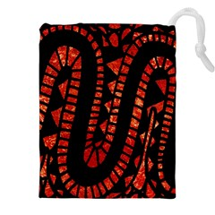 Background Abstract Red Black Drawstring Pouches (xxl) by Nexatart
