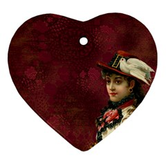 Vintage Edwardian Scrapbook Heart Ornament (two Sides)