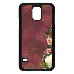 Vintage Edwardian Scrapbook Samsung Galaxy S5 Case (black)