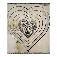 Heart Drawing Angel Vintage Shower Curtain 60  X 72  (medium)  by Nexatart