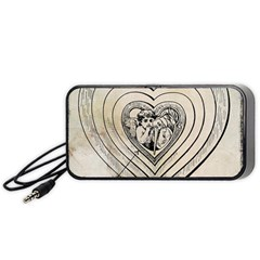Heart Drawing Angel Vintage Portable Speaker by Nexatart