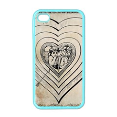 Heart Drawing Angel Vintage Apple Iphone 4 Case (color) by Nexatart