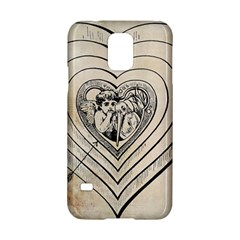 Heart Drawing Angel Vintage Samsung Galaxy S5 Hardshell Case  by Nexatart