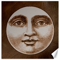 Moon Face Vintage Design Sepia Canvas 12  X 12   by Nexatart