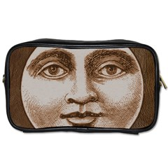 Moon Face Vintage Design Sepia Toiletries Bags 2 Side
