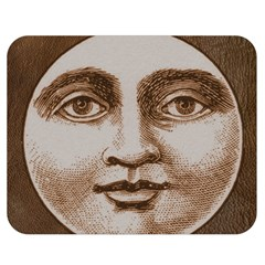 Moon Face Vintage Design Sepia Double Sided Flano Blanket (medium)