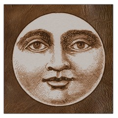 Moon Face Vintage Design Sepia Large Satin Scarf (square) by Nexatart