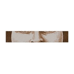 Moon Face Vintage Design Sepia Flano Scarf (mini) by Nexatart