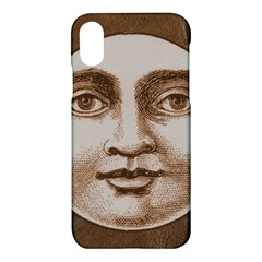Moon Face Vintage Design Sepia Apple Iphone X Hardshell Case