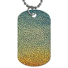 Background Cubism Mosaic Vintage Dog Tag (two Sides) by Nexatart