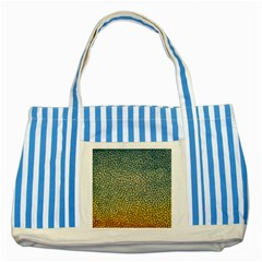 Background Cubism Mosaic Vintage Striped Blue Tote Bag