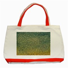 Background Cubism Mosaic Vintage Classic Tote Bag (red)