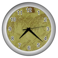 Vintage Map Background Paper Wall Clocks (silver)
