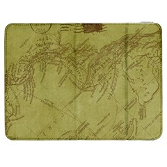 Vintage Map Background Paper Samsung Galaxy Tab 7  P1000 Flip Case