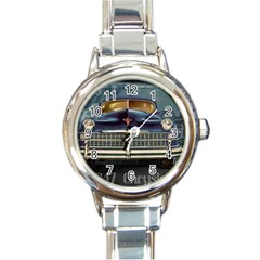 Vintage Car Automobile Round Italian Charm Watch by Nexatart