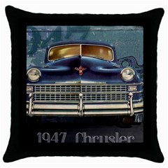 Vintage Car Automobile Throw Pillow Case (black) by Nexatart