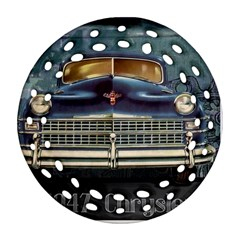 Vintage Car Automobile Round Filigree Ornament (two Sides) by Nexatart