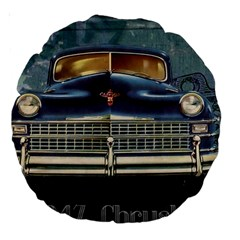 Vintage Car Automobile Large 18  Premium Round Cushions by Nexatart