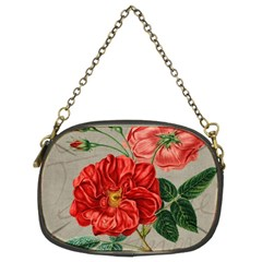 Flower Floral Background Red Rose Chain Purses (two Sides)