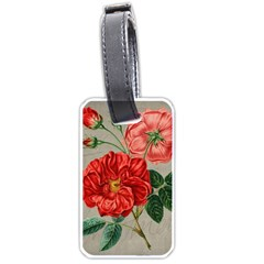 Flower Floral Background Red Rose Luggage Tags (one Side)  by Nexatart