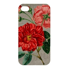 Flower Floral Background Red Rose Apple Iphone 4/4s Premium Hardshell Case