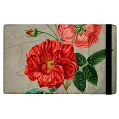 Flower Floral Background Red Rose Apple Ipad 3/4 Flip Case by Nexatart