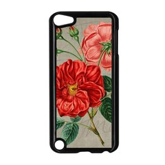 Flower Floral Background Red Rose Apple Ipod Touch 5 Case (black)